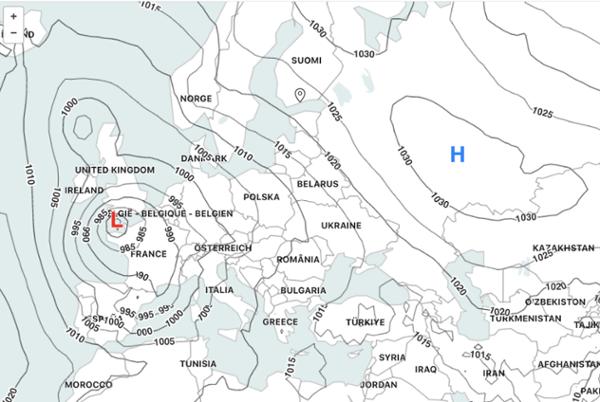 air pressure map